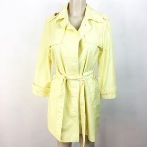 Gap Women's Trent Coat Size Medium Yellow